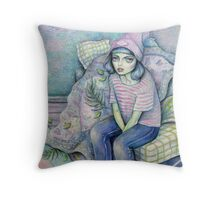 Born To Sit Throw Pillow