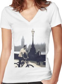 The Cyclist Women's Fitted V-Neck T-Shirt
