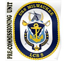 LCS-5 USS Milwaukee Pre-Commissioning Unit Poster