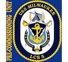 LCS-5 USS Milwaukee Pre-Commissioning Unit for Dark Photographic Print