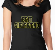STAR WARS ~ Best girlfriend Women's Fitted Scoop T-Shirt