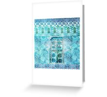 Rumi Freedom quote Greeting Card