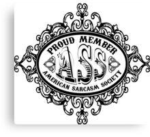 American Sarcasm Society Canvas Print