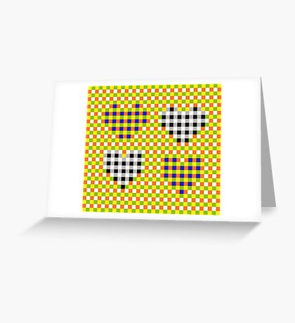 Subliminal Pulsating Hearts Greeting Card