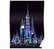 Cinderella's Castle At Night Poster