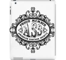 American Sarcasm Society iPad Case/Skin