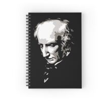 William Wordsworth black and white silhouette art Spiral Notebook