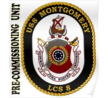 LCS-8 USS Montgomery Pre-Commissioning Unit Poster
