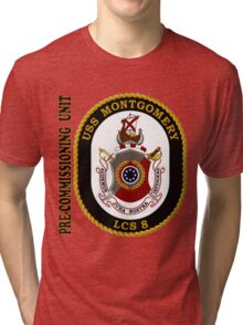 LCS-8 USS Montgomery Pre-Commissioning Unit Tri-blend T-Shirt