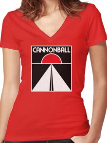 Cannonball Run Women's Fitted V-Neck T-Shirt
