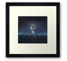 Moon Touch Framed Print