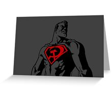 Superman red son grey Greeting Card