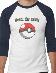 Ball is Life - Pokeball Men's Baseball ¾ T-Shirt