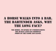 Horse walks into a bar One Piece - Short Sleeve