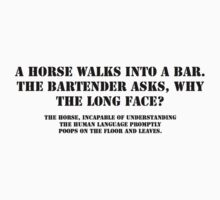 Horse walks into a bar Baby Tee