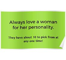 Love a Woman's Personality Poster