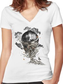Lost Translation Women's Fitted V-Neck T-Shirt
