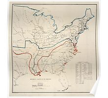 Civil War Maps 0496 Historical sketch of the rebellion United States Poster