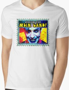 greetings from MEIN LAND Mens V-Neck T-Shirt
