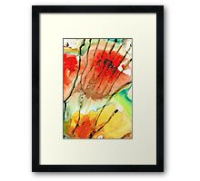 Abstract Red Art - The Promise - Sharon Cummings Framed Print