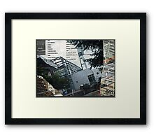 Portland Library Conference Collage Framed Print