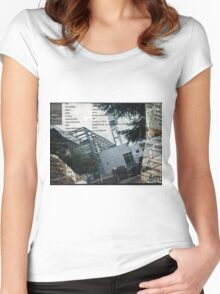 Portland Library Conference Collage Women's Fitted Scoop T-Shirt