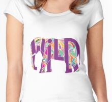 Wild Elephant Women's Fitted Scoop T-Shirt