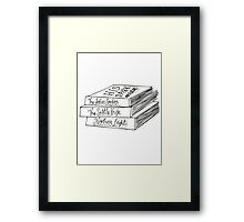 His Dark Materials Book Stack Framed Print