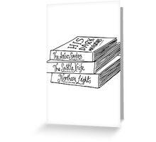 His Dark Materials Book Stack Greeting Card