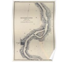 Civil War Maps 1166 Mississippi River from Cairo Ill to St Marys Mo in VI sheets 03 Poster