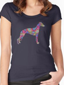 Paisley Whippet Women's Fitted Scoop T-Shirt
