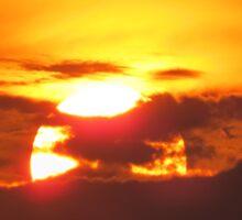 sunset in Neos Marmaras Sticker