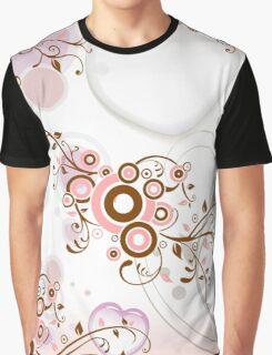 Vintage abstract pink brown floral pattern Graphic T-Shirt