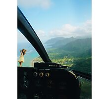 Helicopter Ride in Hawaii Photographic Print