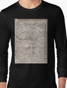 Civil War Maps 1945 Civil War proof maps United States Long Sleeve T-Shirt