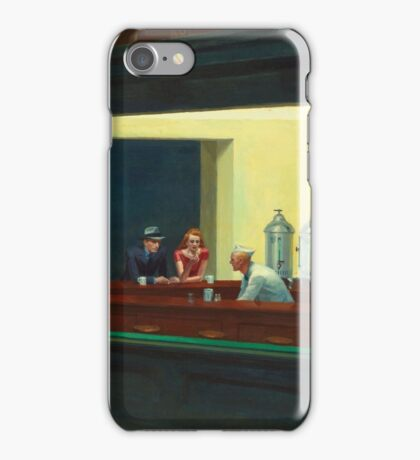 Vintage Edward Hopper Nighthawks Diner iPhone Case/Skin