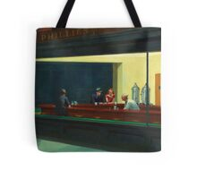 Vintage Edward Hopper Nighthawks Diner Tote Bag