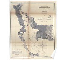 Civil War Maps 1476 Preliminary chart of North Landing River head of Currituck Sound Virginia N Carolina Poster