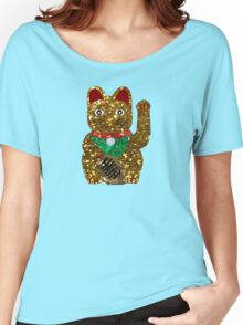gold maneki neko cat Women's Relaxed Fit T-Shirt