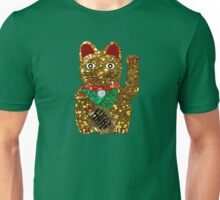 gold maneki neko cat Unisex T-Shirt