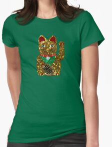 gold maneki neko cat Womens Fitted T-Shirt