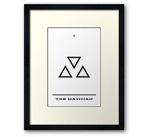 Minimalist Tarot - The Magician Framed Print