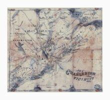 Civil War Maps 0682 Map of Charleston and vicinity Baby Tee