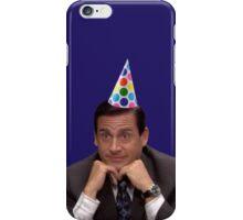michael scott wearing party hat iPhone Case/Skin