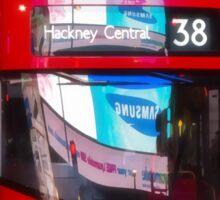 Big Red Bus Sticker