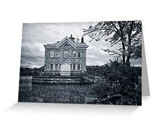 Saugerties Lighthouse BW Greeting Card