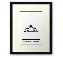 Minimalist Tarot - The Emperor Framed Print