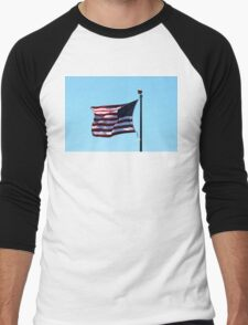 USA Flag Men's Baseball ¾ T-Shirt