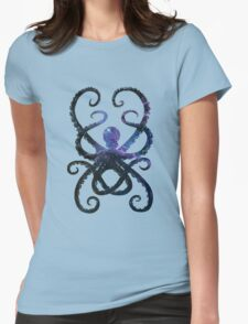 Cosmic Octopus Womens Fitted T-Shirt