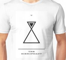 Minimalist Tarot - The Hierophant Unisex T-Shirt